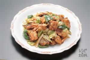 たらと野菜の中国風みそ炒め