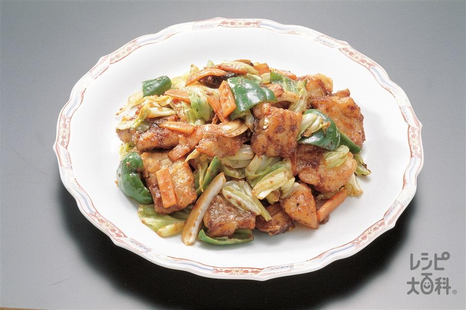 たらと野菜の中国風みそ炒め(甘塩たら+キャベツを使ったレシピ)