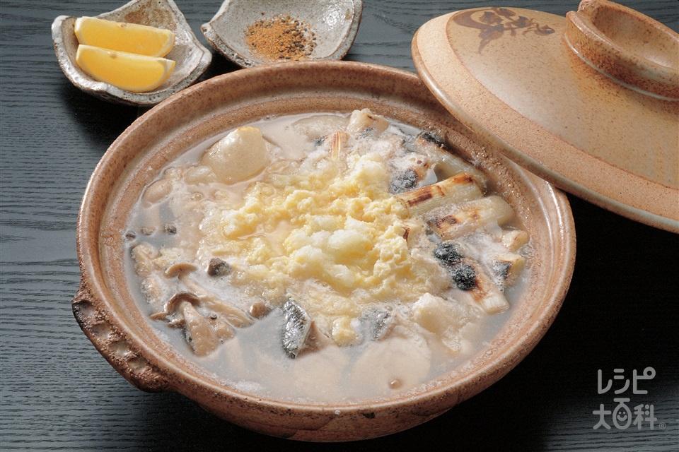 たらのみぞれ鍋(たら+大根おろしを使ったレシピ)