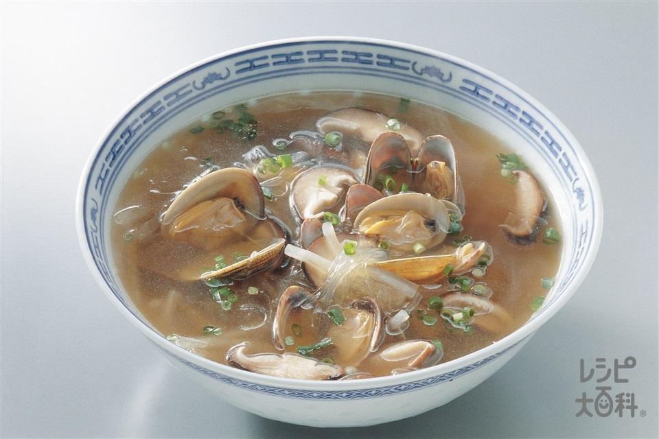 あさりと大根のスープ(あさり(殻つき)+大根を使ったレシピ)
