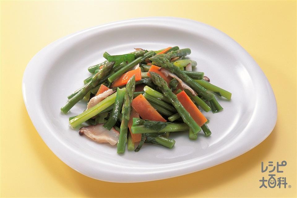中国風野菜サラダ(グリーンアスパラガス+にらを使ったレシピ)
