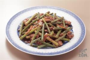 茎にんにくと豚肉のみそ炒め(豚ロース薄切り肉+茎にんにくを使ったレシピ)