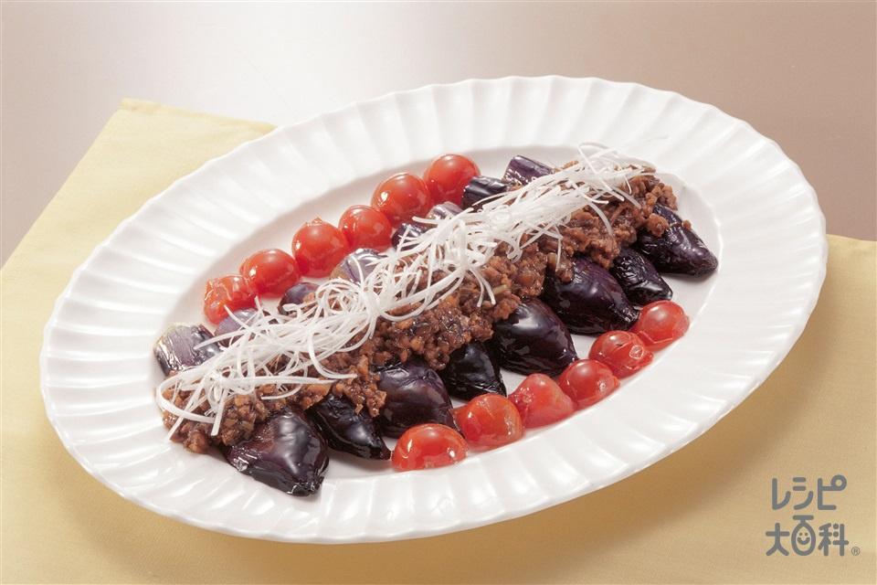 なすのステーキ 肉みそソース(なす+ミニトマトを使ったレシピ)