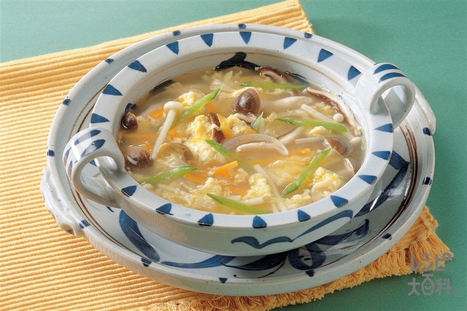 きのこと卵のスープ(しめじ+玉ねぎを使ったレシピ)