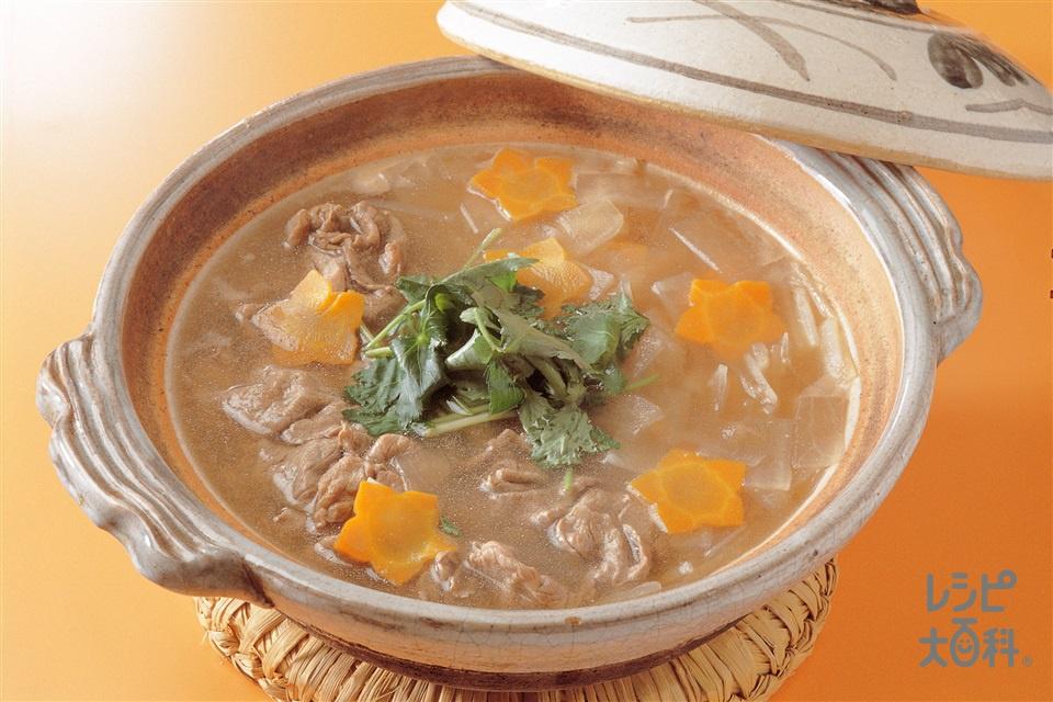 大根と牛肉のしゃぶしゃぶ(大根+牛肉を使ったレシピ)