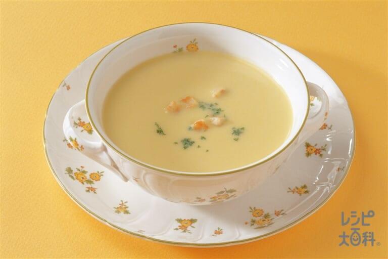 里いもとかぼちゃのクリームスープ