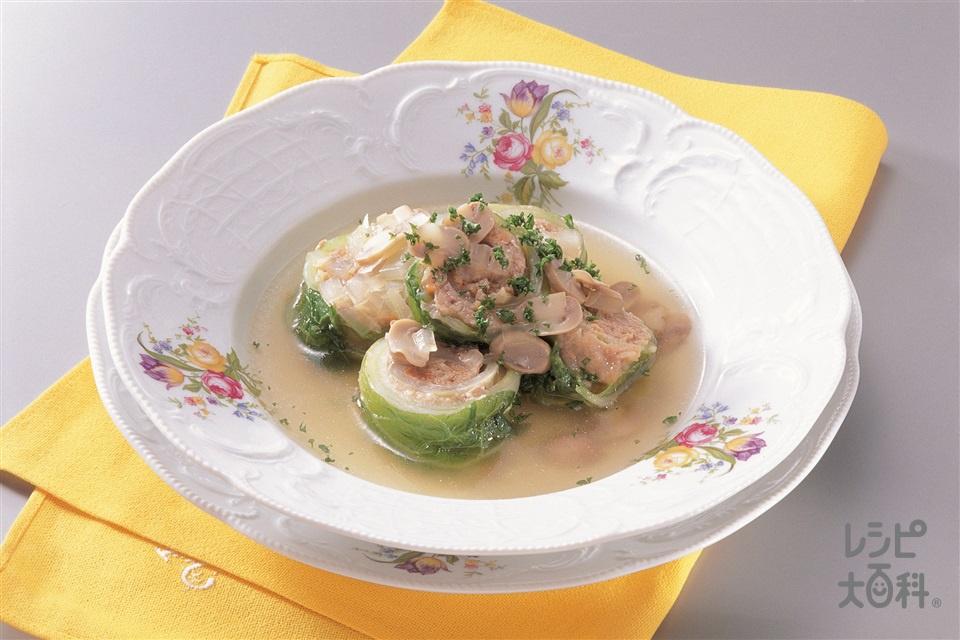 白菜ロール(白菜+豚ひき肉を使ったレシピ)