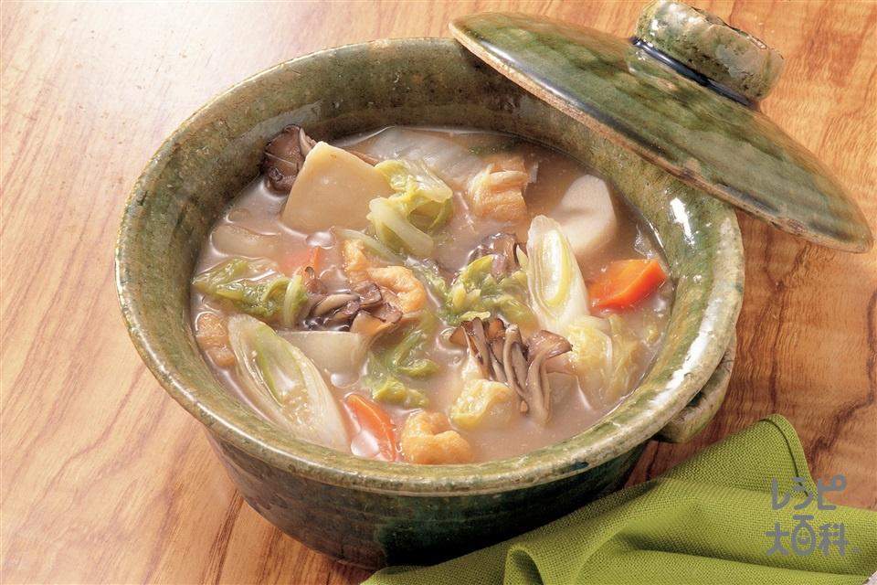 白菜のほうとう風煮(白菜+まいたけを使ったレシピ)