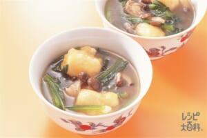 小松菜の中国風雑煮