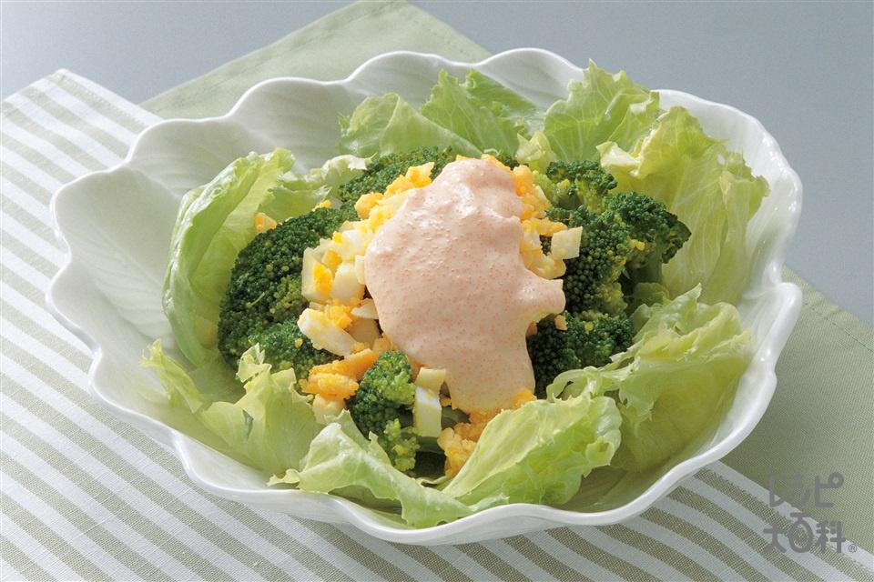 ブロッコリーの明太子ソース(ブロッコリー+レタスを使ったレシピ)