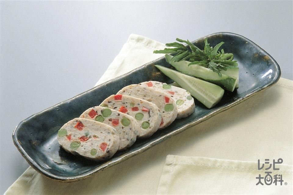 チキンロール(鶏むねひき肉+パプリカ(赤)を使ったレシピ)