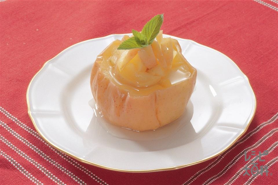 ホットアップル(りんご+A「パルスイート カロリーゼロ」を使ったレシピ)