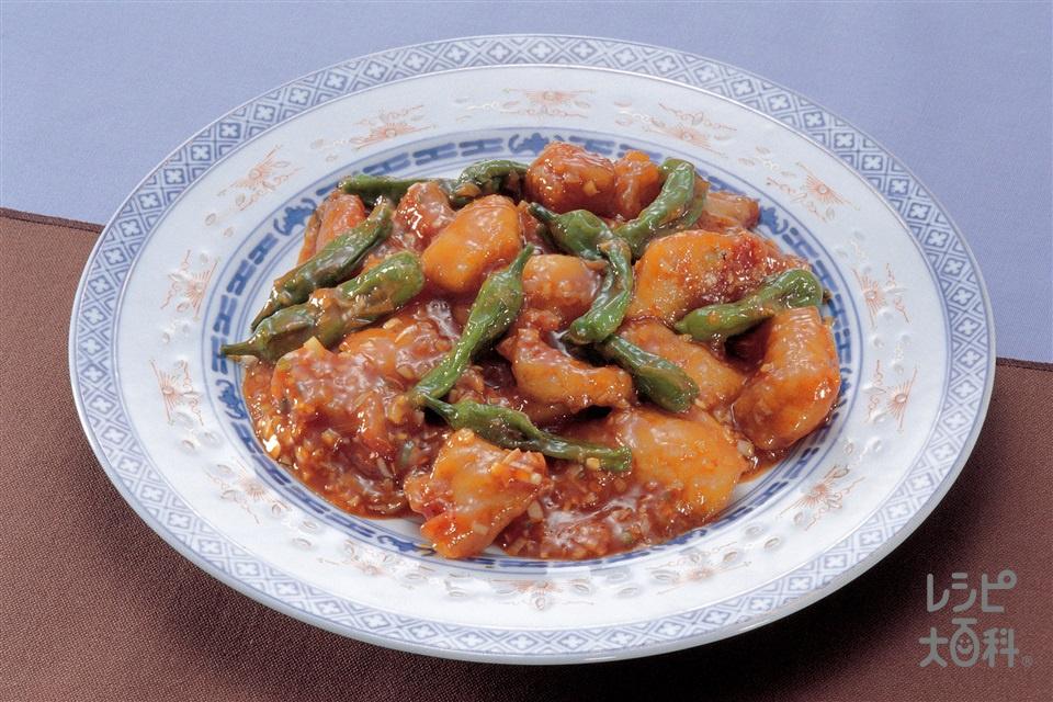 白身魚のチリソース炒め(白身魚(きんめだい など)+ねぎのみじん切りを使ったレシピ)
