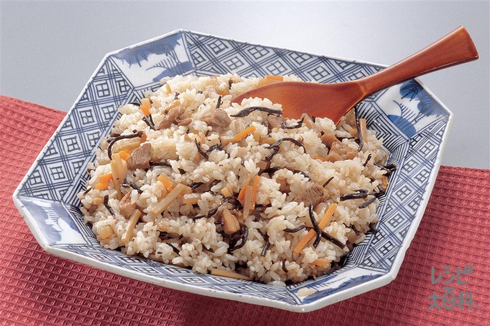 五目ご飯(米+鶏肉を使ったレシピ)