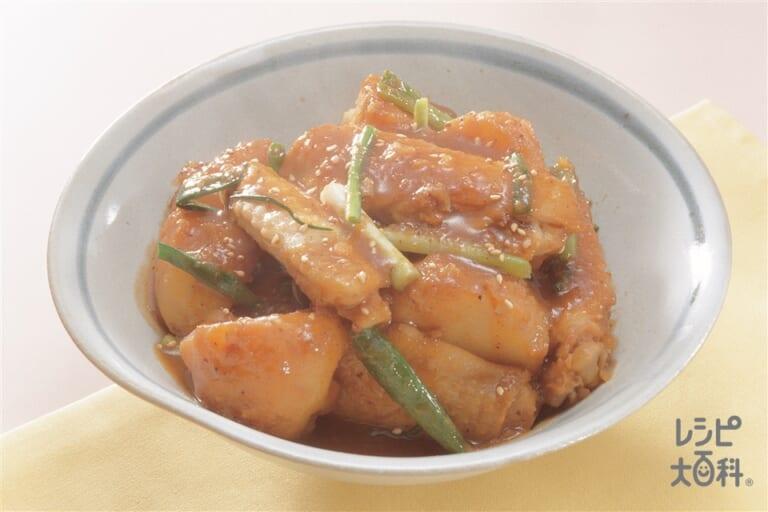 鶏手羽先とじゃがいもの中国風みそ煮