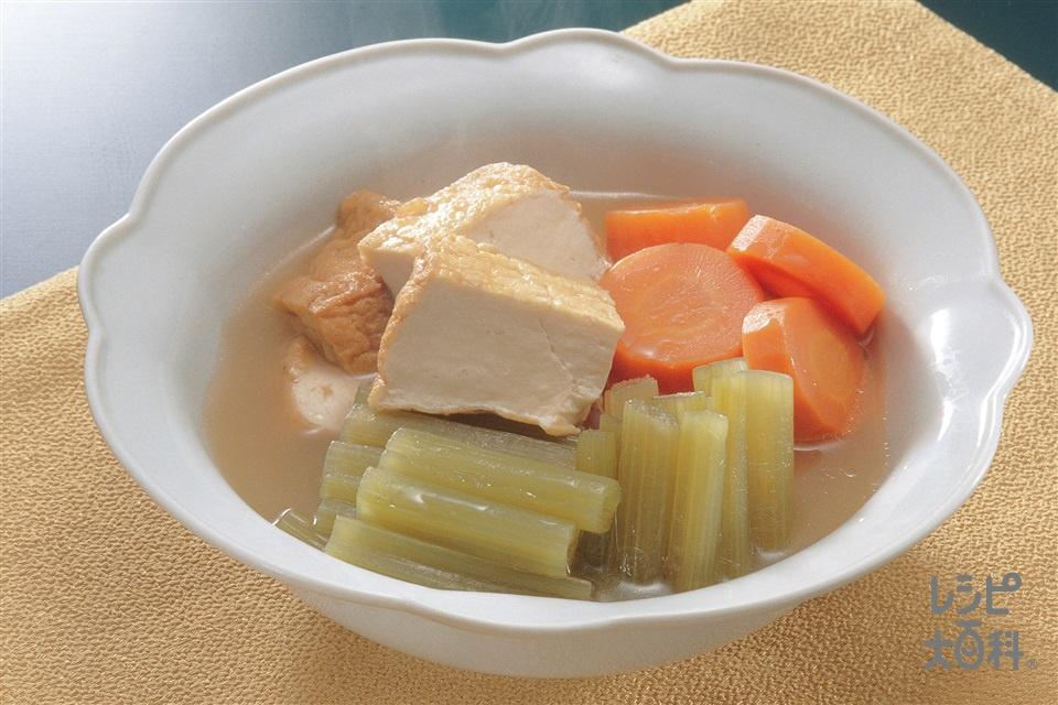 ふきと厚揚げの煮もの(ふき+厚揚げを使ったレシピ)