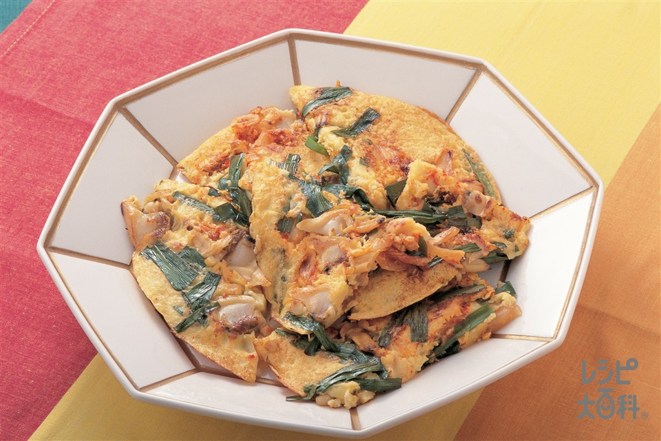 あさりのチヂミ(卵+じゃがいもを使ったレシピ)