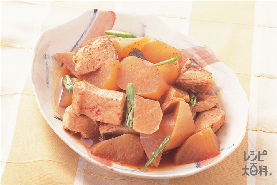 さけと大根のピリ辛煮(大根+さけを使ったレシピ)