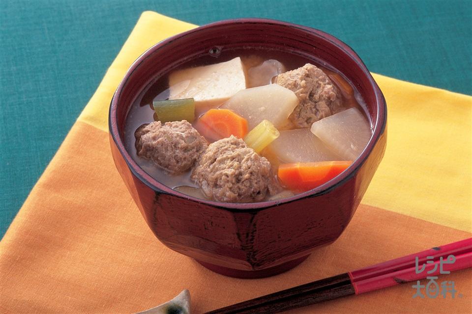 いわしのだんご汁(大根+木綿豆腐を使ったレシピ)