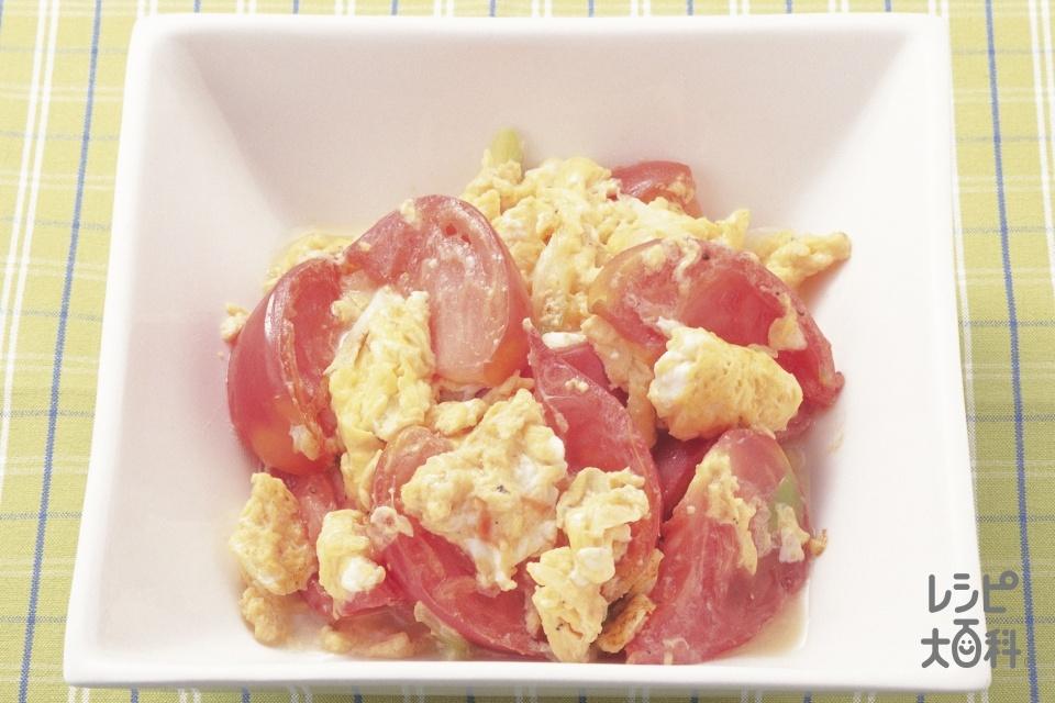 トマトと卵の炒めもの(トマト+卵を使ったレシピ)