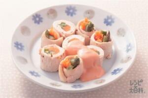 鶏ささみのレンジロール(鶏ささ身+グリーンアスパラガスを使ったレシピ)
