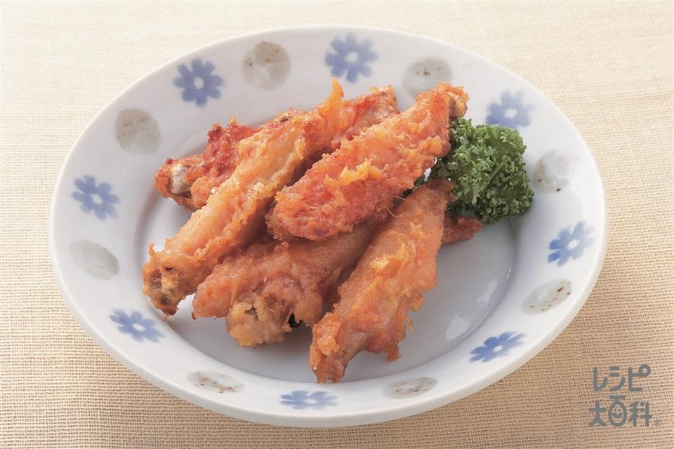 手羽先のから揚げ(鶏手羽肉+小麦粉を使ったレシピ)