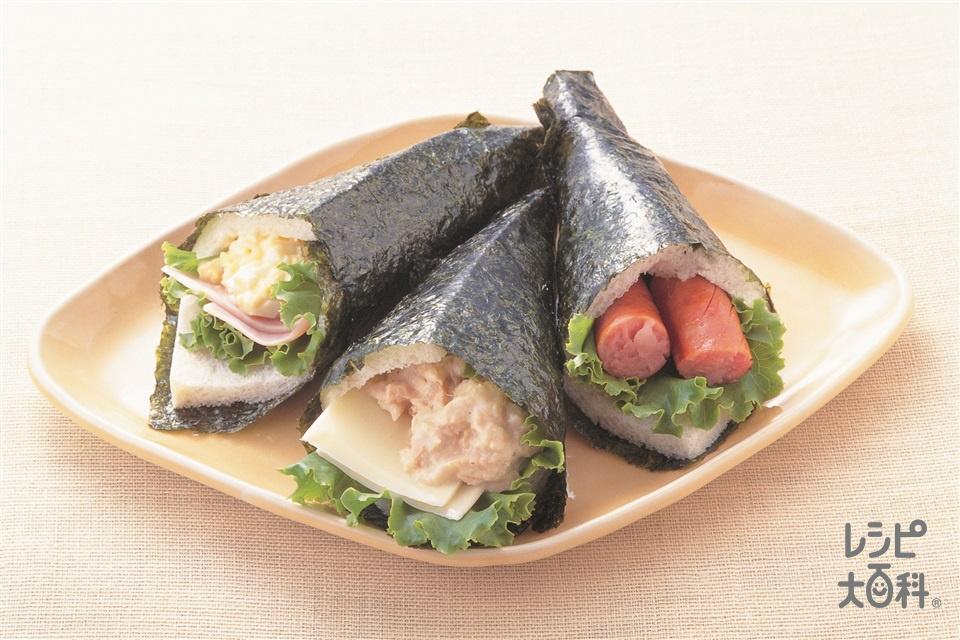 手巻きサンドイッチ(サンドイッチ用食パン+レタスを使ったレシピ)