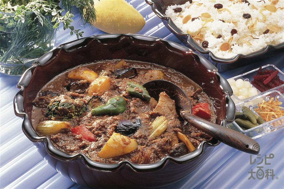 野菜カレー(鶏もも肉+玉ねぎを使ったレシピ)
