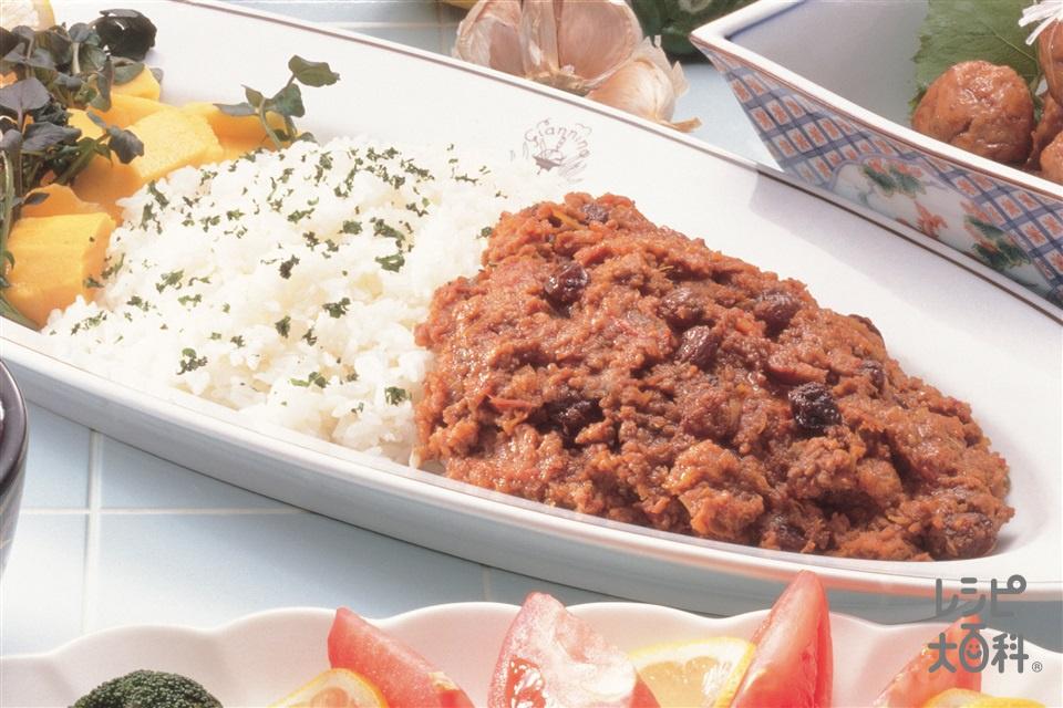 ドライカレー(合いびき肉+Aカレー粉を使ったレシピ)