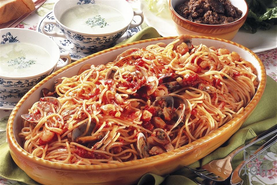 シーフードスパゲッティ