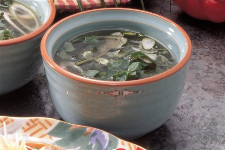 クレソンのスープ