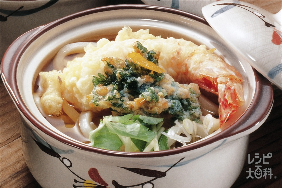 天ぷらうどん(薄力粉+ゆでうどんを使ったレシピ)