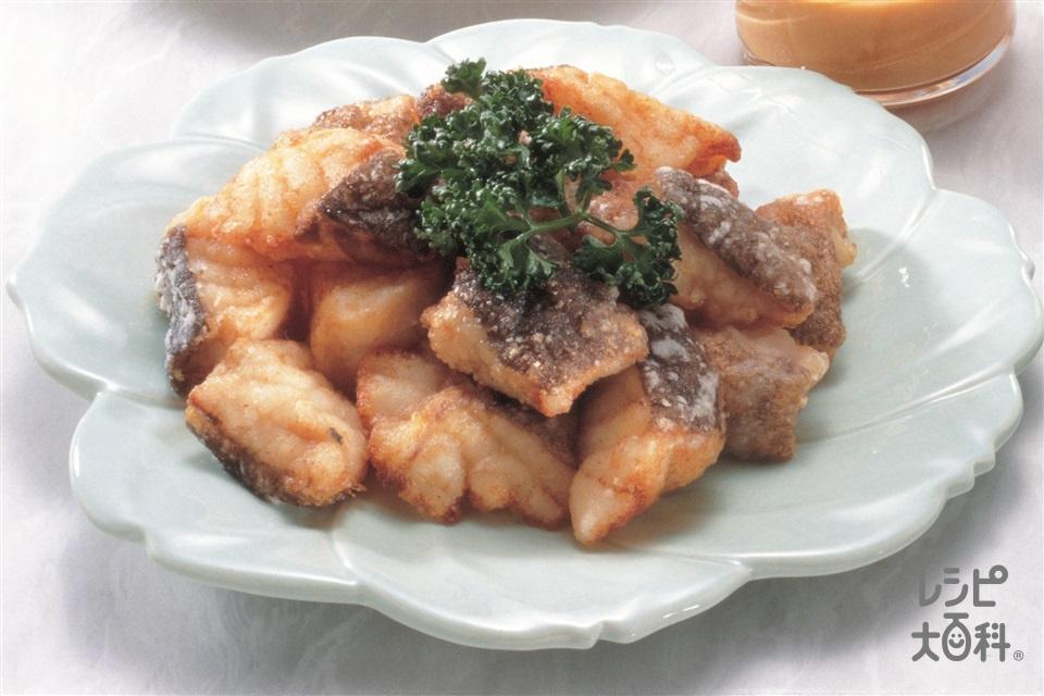 たらのから揚げ ごまマヨネーズソース(たら+片栗粉を使ったレシピ)