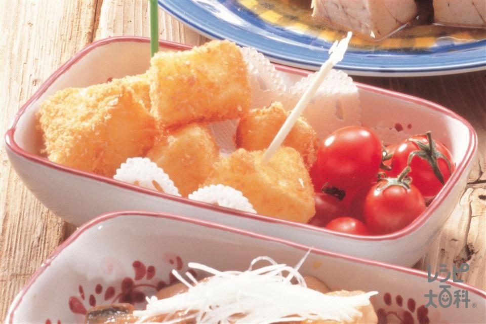 カマンベールチーズのフライ(カマンベールチーズ+溶き卵を使ったレシピ)