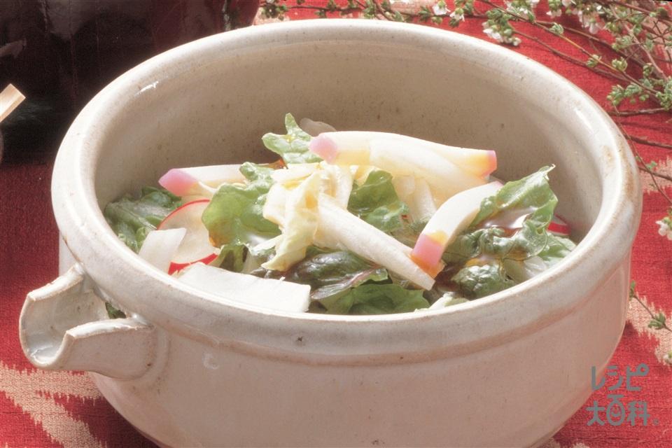 白菜とかまぼこのあえもの(紅かまぼこ+白菜を使ったレシピ)