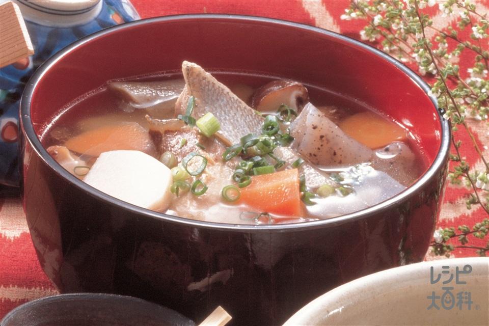 ぶりと根菜汁(ぶり+こんにゃくを使ったレシピ)
