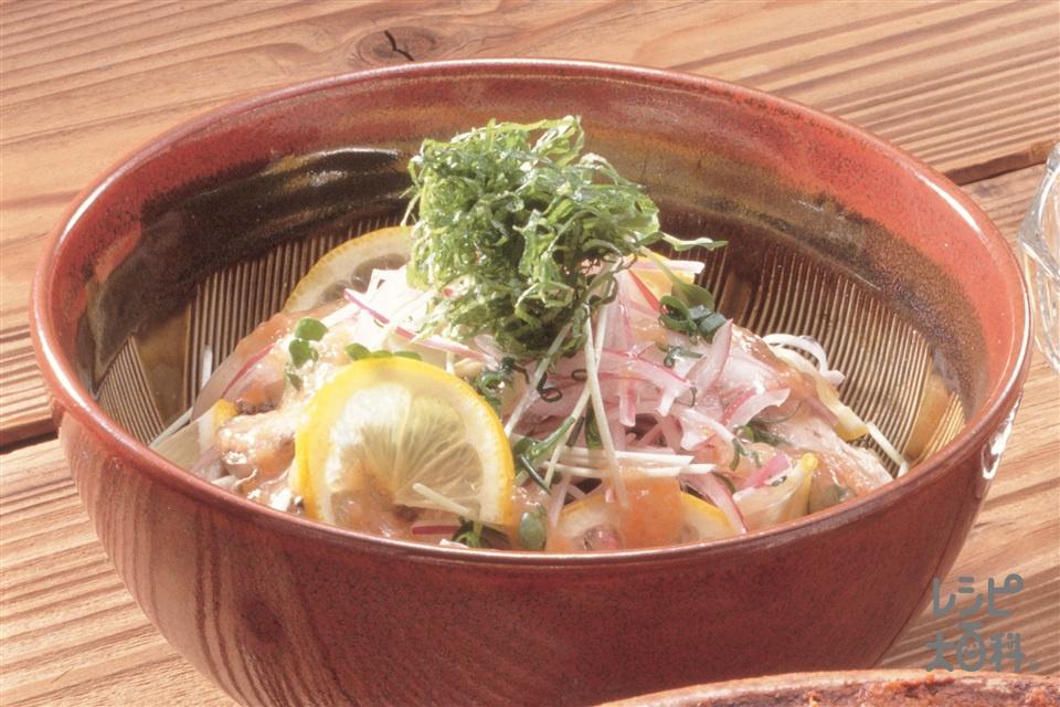かきとぶりのサラダ(かき(むき身)+ぶりを使ったレシピ)