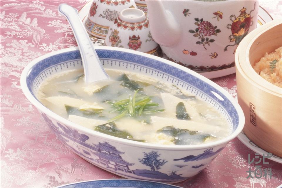 中国風卵スープ(ゆでたけのこ+溶き卵を使ったレシピ)