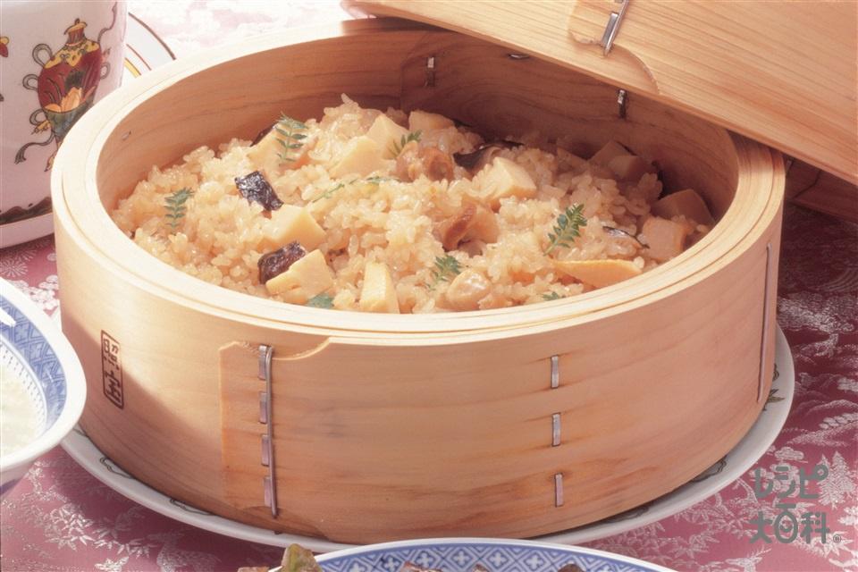 たけのこの中国風炊き込みご飯(米+ゆでたけのこを使ったレシピ)