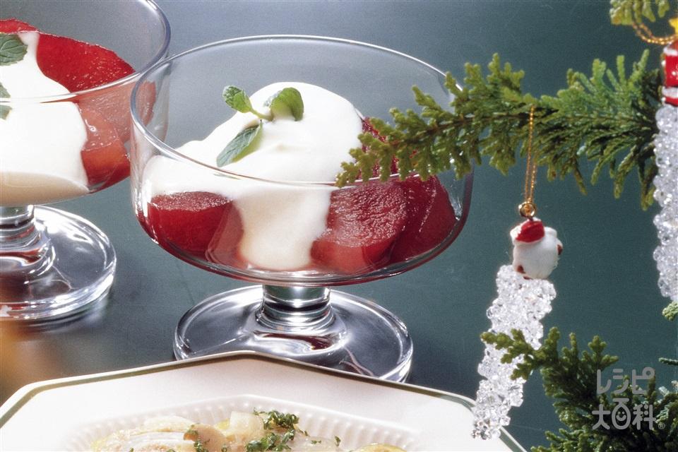 りんごの赤ワイン煮(りんご+A水を使ったレシピ)