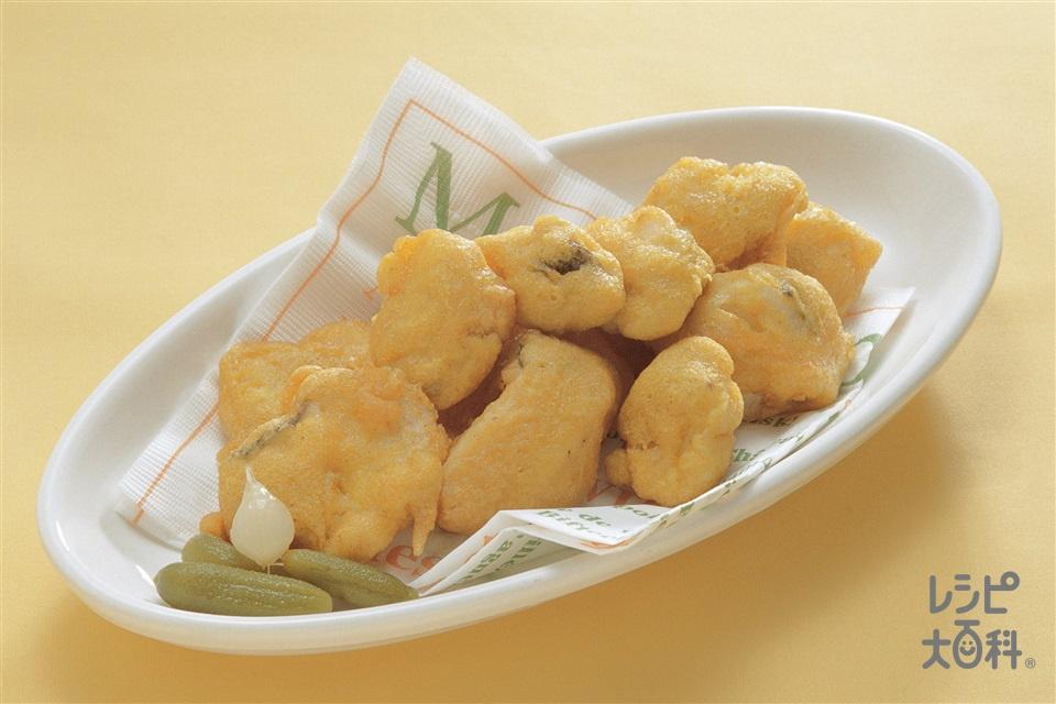 白身魚のカレーフリッター(たら+A「瀬戸のほんじお」を使ったレシピ)
