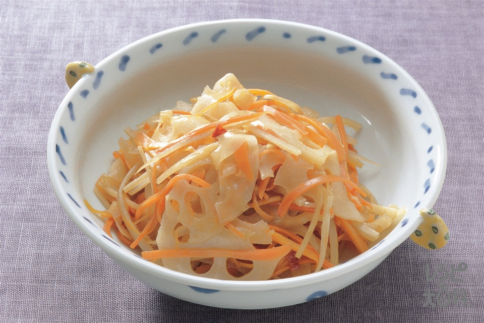 きんぴら(れんこん+にんじんを使ったレシピ)