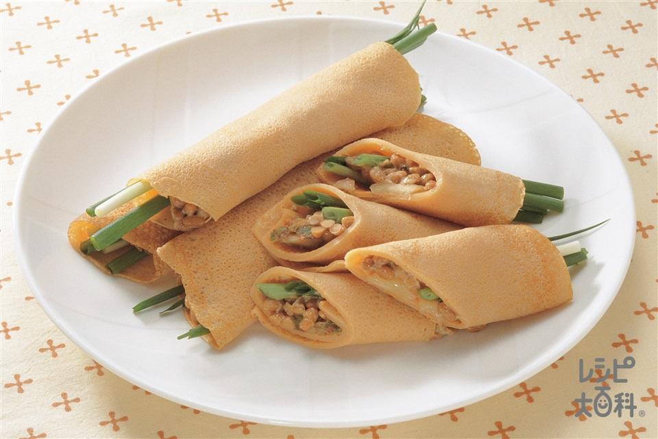 納豆のチヂミ(納豆+小麦粉を使ったレシピ)