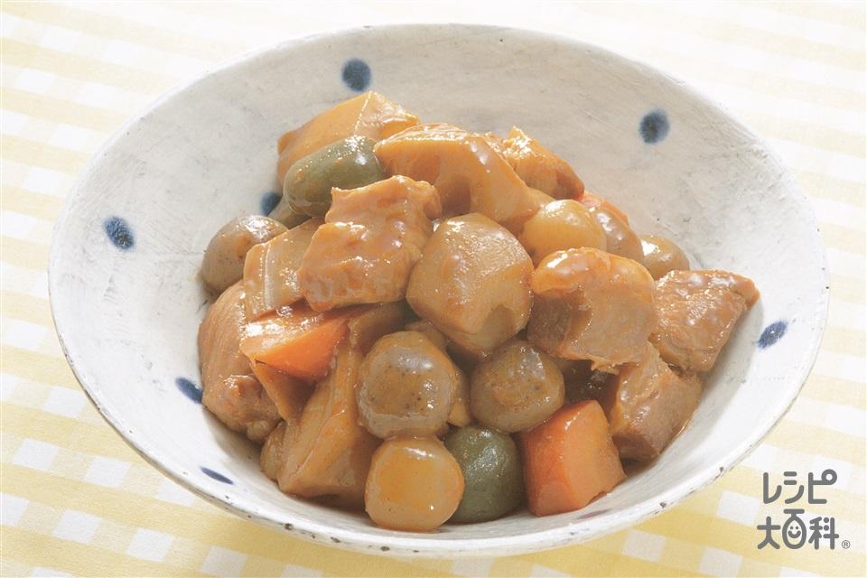 豚肉の角煮(豚もも肉+「瀬戸のほんじお」を使ったレシピ)