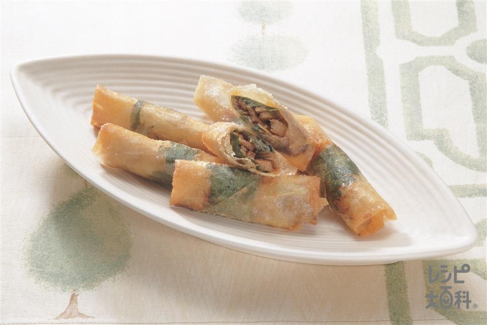 おつまみ春巻(春巻の皮+焼き豚を使ったレシピ)