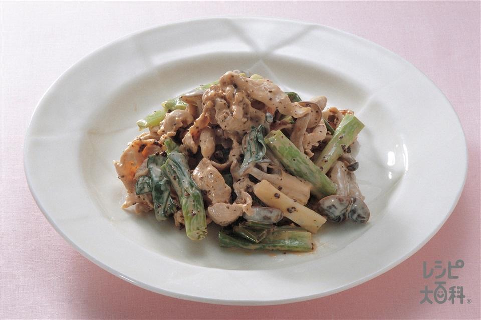 豚肉とわけぎの酢味噌あえ(豚しゃぶしゃぶ用肉+わけぎを使ったレシピ)