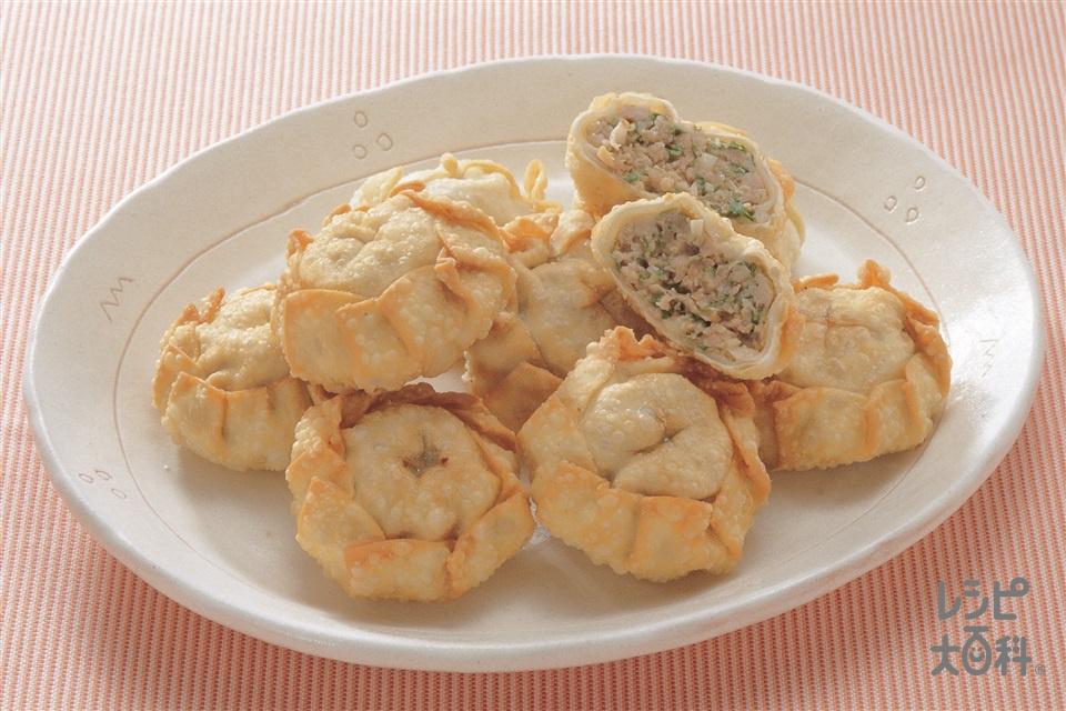 揚げギョーザ(豚ひき肉+餃子の皮を使ったレシピ)