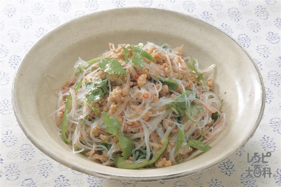 タイ風サラダ(豚ひき肉+香菜を使ったレシピ)