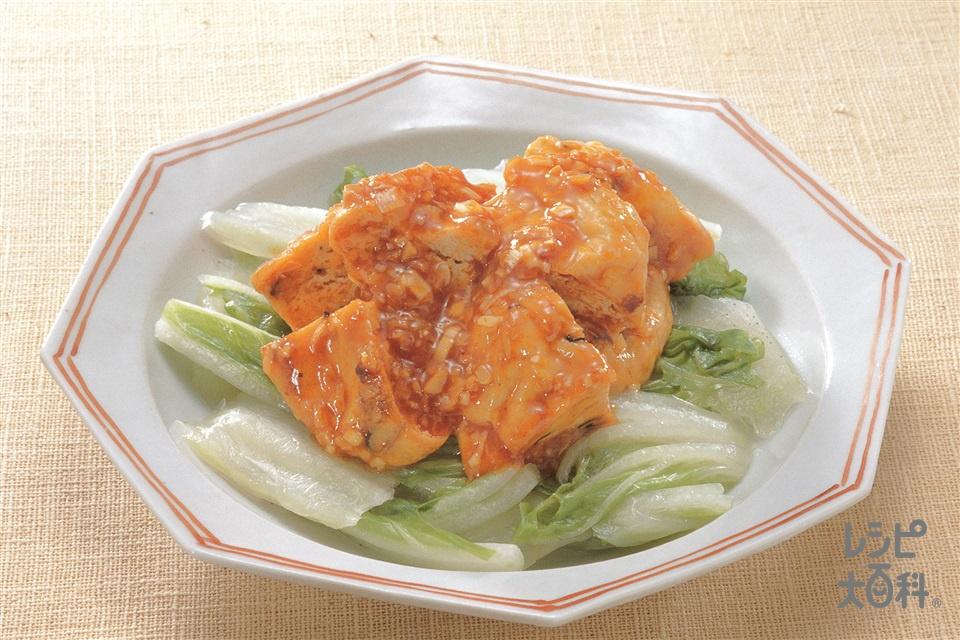 がんもどきの干焼炒め(がんもどき+白菜を使ったレシピ)