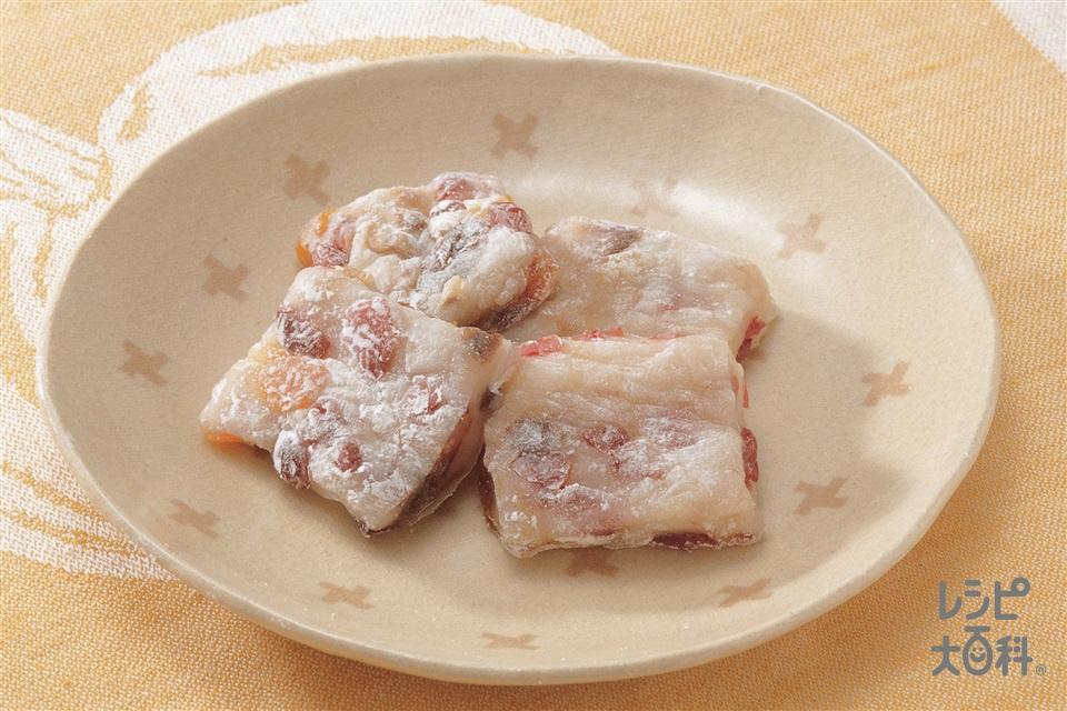ドライフルーツゆべし(白玉粉+干しプルーンを使ったレシピ)